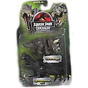 Jurassic Park Dinosaurs Triceratops and Tyrannosaurus Rex