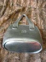 Didier Lamarthe Black Leather Logo Bucket Bag Purse