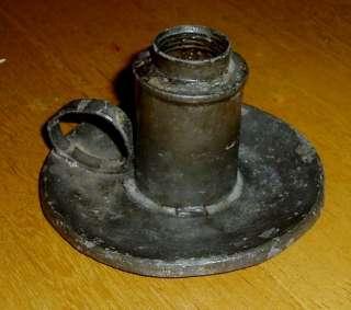 Revolutionary War era dated candle holder/ oil lamp N/R