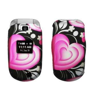 FOR NEW LG Revere VN150 VERIZON CELL PHONE BLACK PINK GRAY HEART HARD