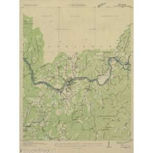 USGS TOPO MAP BRYSON QUAD NORTH CAROLINA (NC) 1936 Home