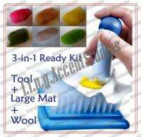 in 1 Ready Kit   Large Mat Felting Tool Wool Roving Embroidery Punch