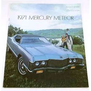 1971 71 Mercury METEOR BROCHURE Rideau 500 Montcalm Everything Else