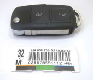 VW GOLF POLO PASSAT BORA 2 BUTTON REMOTE FLIP KEY CASE