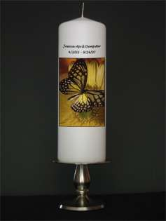 Personalized Custom Memorial and Remembrance Candles from Goody
