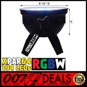 LOT 8 194 RGBW LED WEDDING UP LIGHTING PAR 64 CAN DMX DJ STAGE WASH