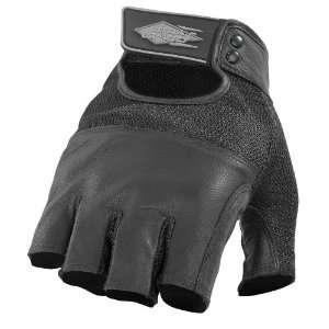 Mens Leather Motorcycle Gloves Black Large L 536 3004 Automotive