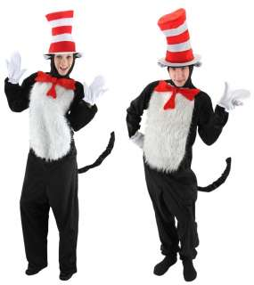 DELUXE Cat In The Hat Dr. Seuss Costume Kit Adult Men or Womens S M L