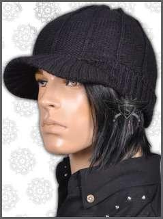 Dark Gray Gothic Knit Men Beanie Hat Cap Elasticity Distinctive Vogue