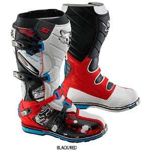 Mens Off Road Motorcycle Boots Color Black/Red, Size 13 Automotive