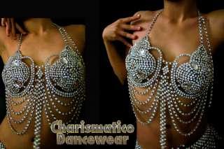 Swarovski Crystal Drag Queen SHOWGIRL DIVA INTIMATE Bra