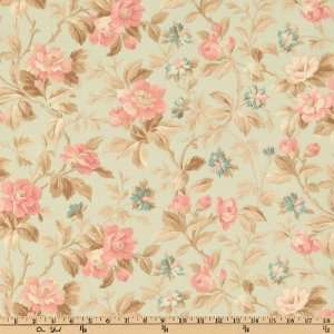44 Wide Beach House Floral Mint Fabric By The Yard Arts