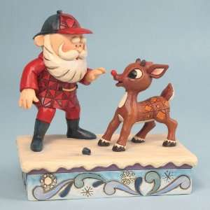 Jim Shore   Rudolph   Rudolph & Santa Home & Kitchen