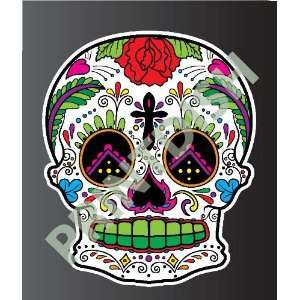 Sugar skull 6 6 sticker vinyl decal 3 x 2.5 Everything