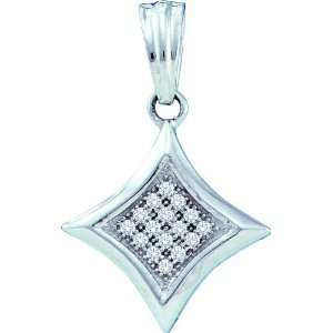 10k White Gold 0.05 Dwt Diamond Fashion Pendant