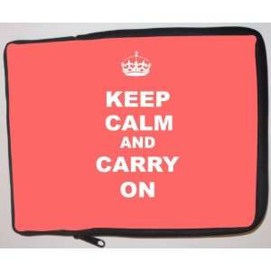 com Keep Calm and Carry On   Tropical Pink Laptop Sleeve   Note Book
