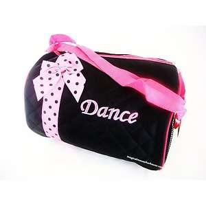 Girls Black Pink Dance Duffle Bag Ballet Tutu Tap New