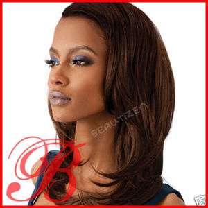 Outre Quick Weave Long Straight Half Wig ELLEN