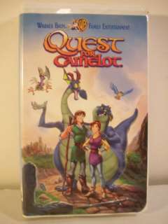 QUEST FOR CAMELOT Childrens VHS Tape Warner Bros 085391660736