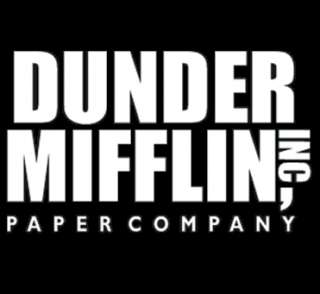 DUNDER MIFFLIN funny the office T Shirt black Large L