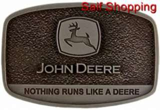 Licensed John Deere Farm Tractor Die Cast Cowboy Cowgirl Belt Buckle