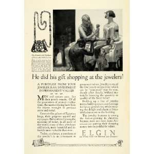 1926 Ad Elgin National Watch Co Necklace Princess Sat hathor iunut