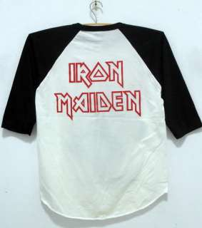 Maiden baseball 3/4 jersey shirt punk rock band tour nwt men S