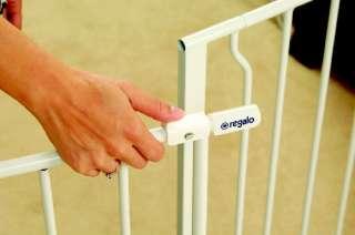 Regalo Easy Open Super Wide Walk Thru Baby / Pet Gate   White