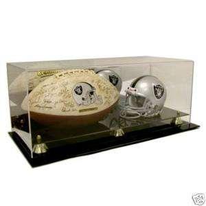 Mini NFL Helmet and Full Size Football Acrylic Display Case   AD52