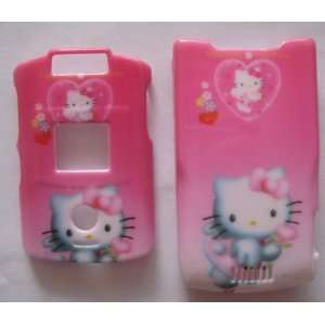 HELLO KITTY HEARTS snap on cover faceplate for Motorola