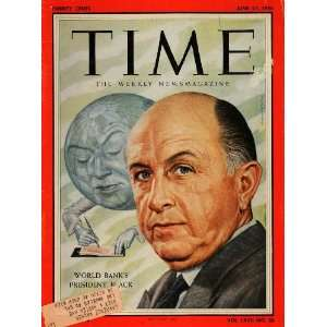 1956 Cover Time Eugene Robert Black World Bank Pres.   Original Cover