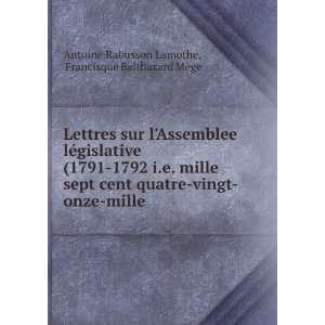 ©gislative (1791 1792 i.e. mille sept cent quatre vingt onze mille