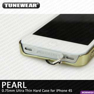 Tunewear Pearl Ultra Thin 0.75mm Eggshell Hard Case Cover iPhone 4 4S
