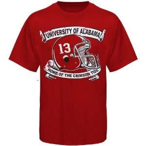 NCAA Alabama Crimson Tide Crimson Home T shirt Sports