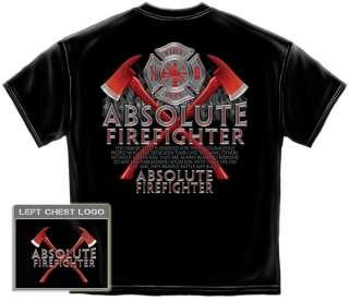 Firefighter T Shirt cross of RED rescue axes fireman fire badge AL205