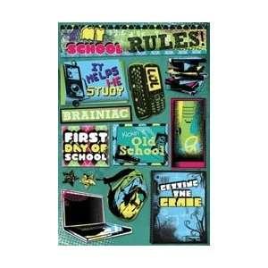 Karen Foster High School Cardstock Stickers 5.5X9 Sheet