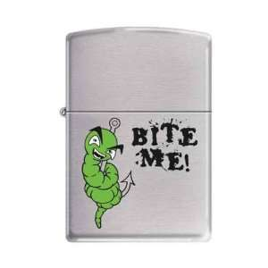 Custom Lighter   Bite Me Fishing Lure Logo