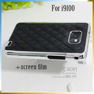 Genuine leather luxury CASE For SAMSUNG GALAXY S2 i9100 Chrome frame