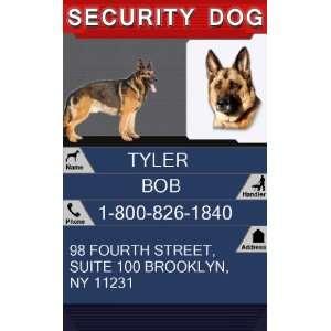 SECURITY DOG Badge   1 Dogs Custom ID Badge   Design#1