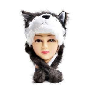 Bg Hat imals Grey Wolf Plush Winter Hat