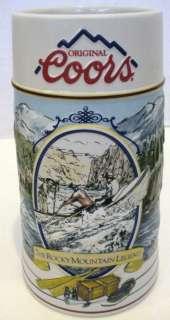1992 COORS CERAMIC ROCKY MOUNTAIN LEGEND BEER STEIN