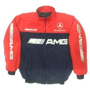 Mercedes Benz AMG Racing Jacket Red and Dark Blue Sports