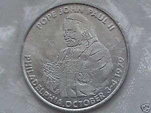 Pope John Paul II Medal, Philadelphia Oct. 3 4 1979