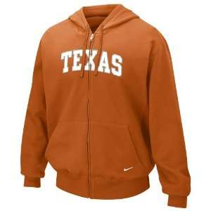 Nike Texas Longhorns Orange Classic Full Zip Fleece Hoody
