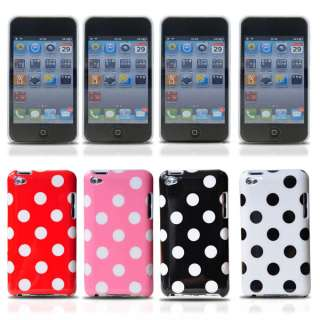 1pc Polka Dots Hard Back Case Cover Skin For Apple iPod Touch 4 4G 4th
