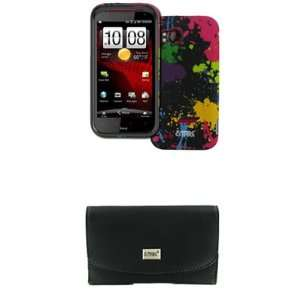 EMPIRE Verizon HTC Rezound Black Leather Case Pouch with