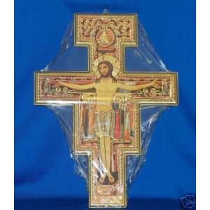 Franciscan Icon Cross San Domiano Crucifix 16 x 11.75
