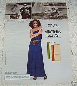 1979 ERIN GRAY Virginia Slims cigarette Niagara Fall AD