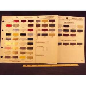 DODGE, & PLYMOUTH Paint Colors Chip Page Chrysler Corporation Books