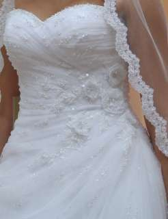 Pageant White/Ivory Sweetheart Bridal Gown Wedding Dress Size